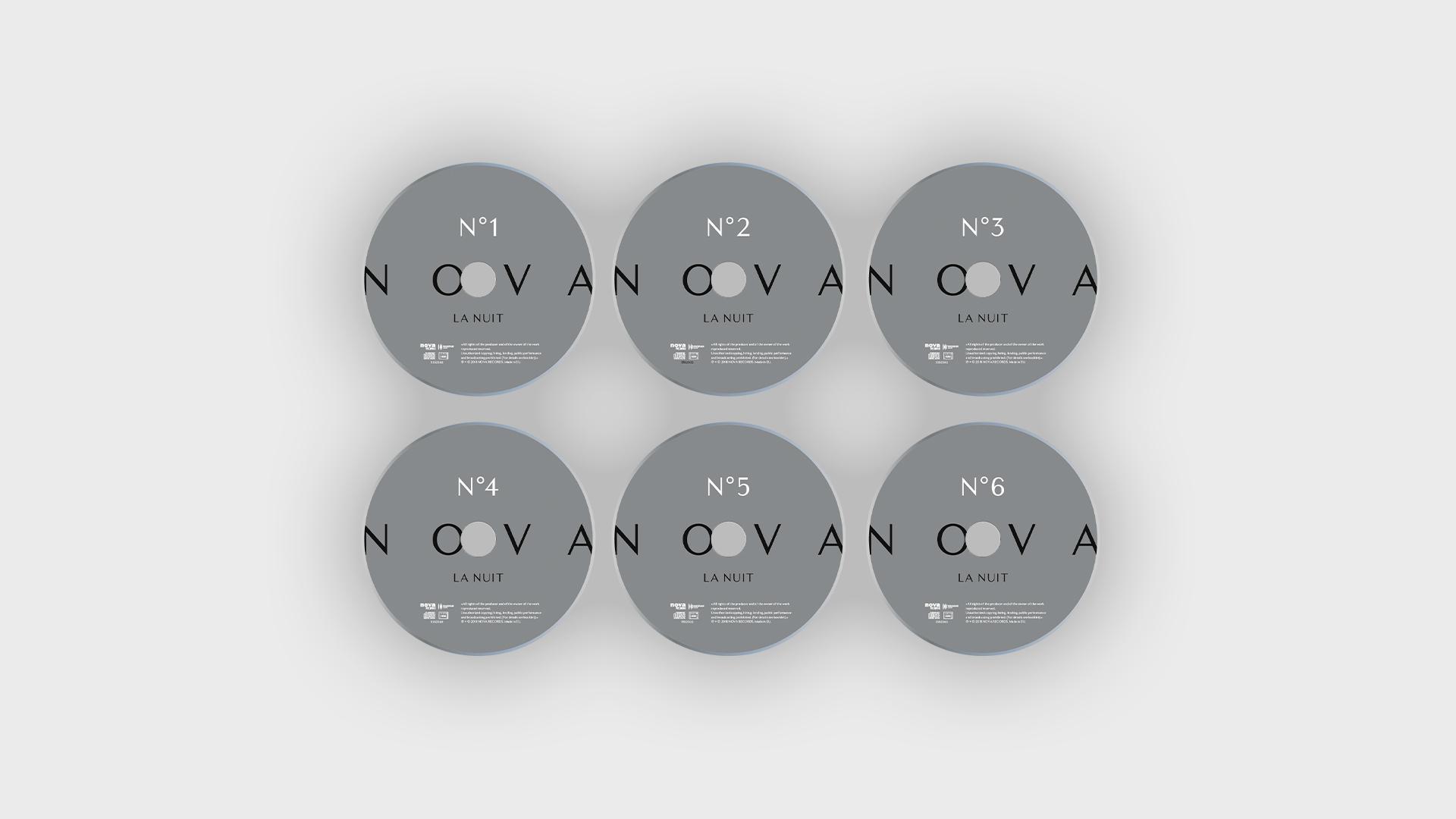 Propositions de coffret Nova la Nuit de 6 cd de la radio Nova