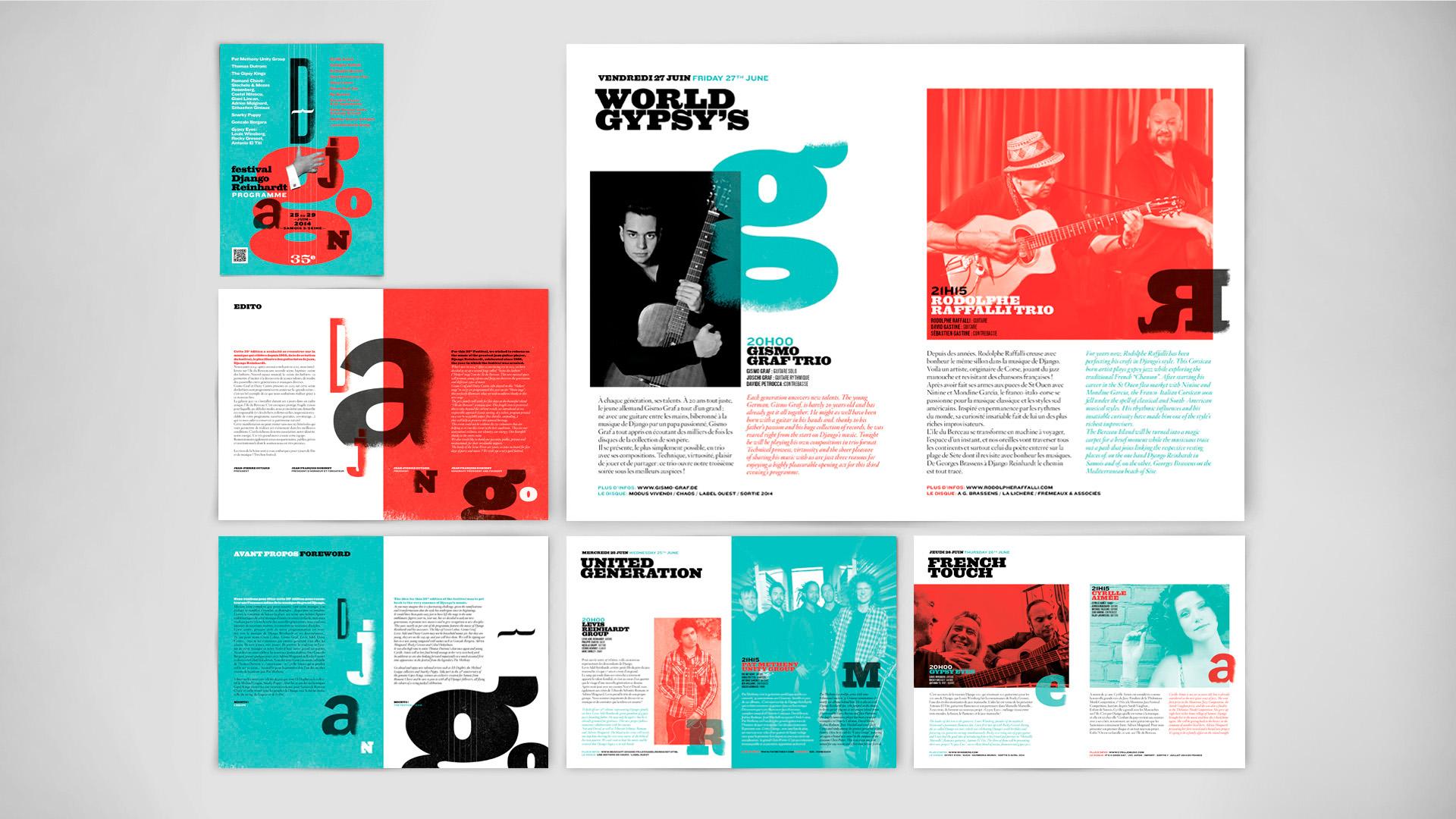 Affiche festival Django Reinhardt 2014 Samois sur Seine graphisme & illustrations pommeC pommeV Christophe Andrusin