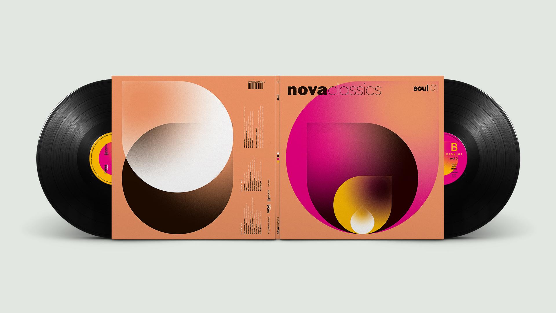 Nova Classics Soul double vinyles gatefold conception & création graphique pommeC pommeV graphisme & illustration Christophe Andrusin